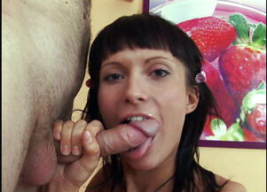 Tongue piercing blowjob