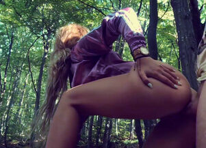 Creampie in the woods